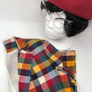 VINTAGE MULTI CHECK JACKET BLAZER